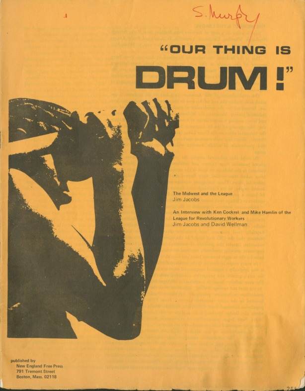 """Our Thing Is DRUM!"" booklet"