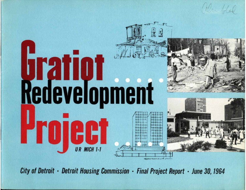 Brochure, Gratiot Redevelopment Project, cover, 1964