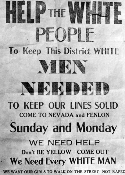 Flyer, Sojourner Truth Housing Project, 1942.