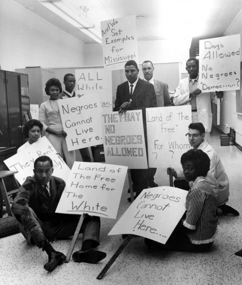 NAACP, Demonstrations, Housing Discrimination, Detroit, 1962.