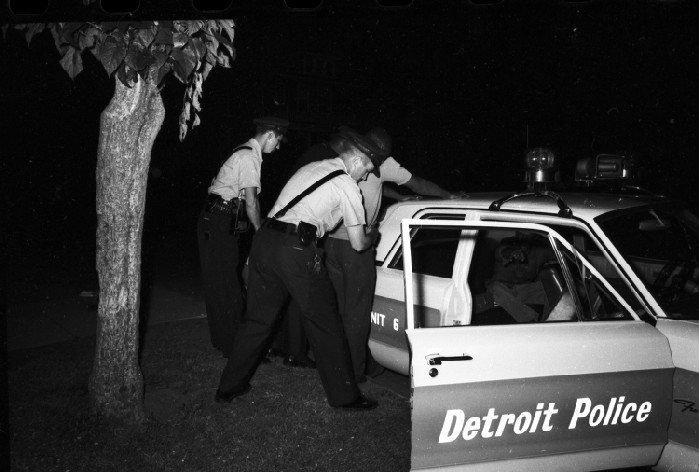 Police Department; Tactical Mobile Unit. - In action when dispatched to near riot at Belle Isle.