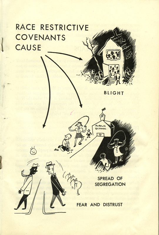 Pamphlet, Hemmed In: ABC's of Race Restrictive Housing Covenants, graphic, 1945