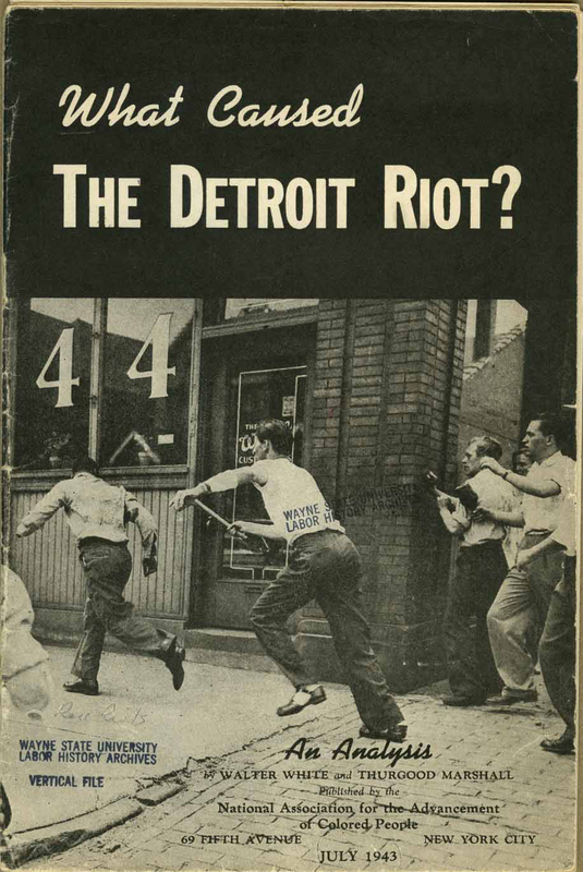 Pamphlet, What Caused the Detroit Riot? An Analysis, cover, 1943